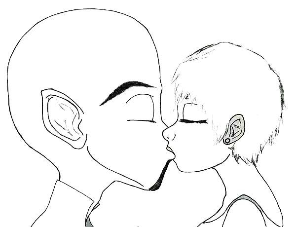 Megamind, : Megamind Kissed Roxanne Coloring Pages