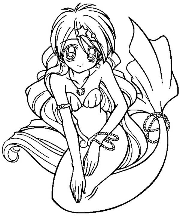 Mermaid, : Melody the Mermaid Coloring Pages