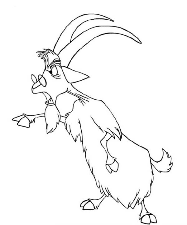 Merlin the Wizard, : Merlin the Wizard Changing His Form into a Goat Coloring Pages