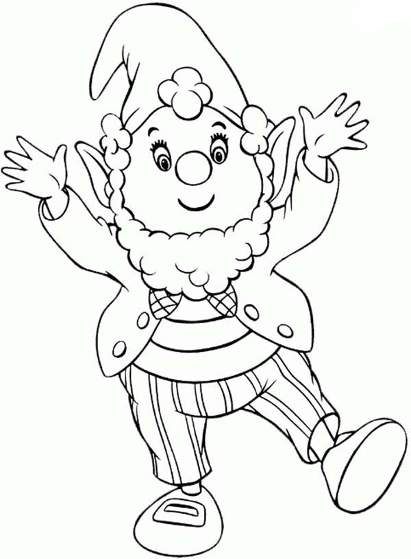 Noddy, : Mr Big Ears Very Pleased to See Noddy Coloring Pages