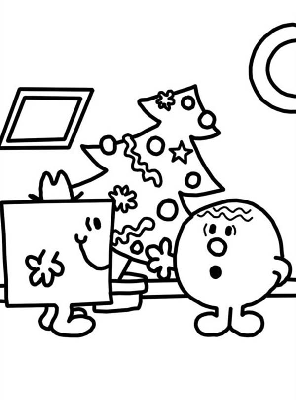 Mr Men and Little Miss, : Mr Men and Little Miss Chrismas Coloring Pages