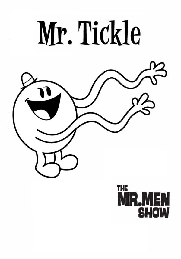 Mr Men and Little Miss, : Mr Tickle Has Long Hands in Mr Men and Little Miss Coloring Pages