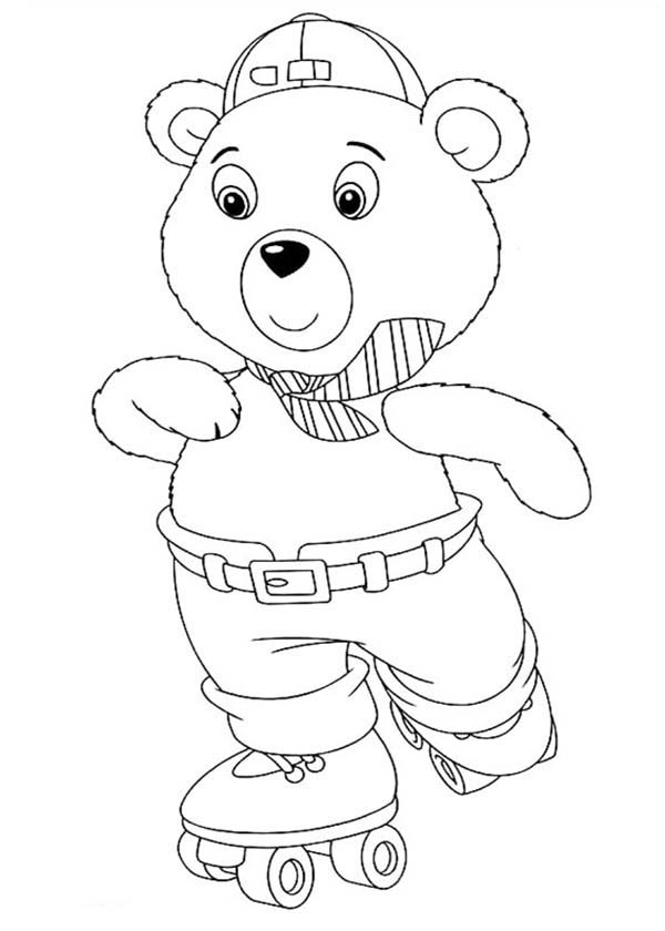 Noddy, : Mr Tubby Bear Play Rollerskate in Noddy Coloring Pages