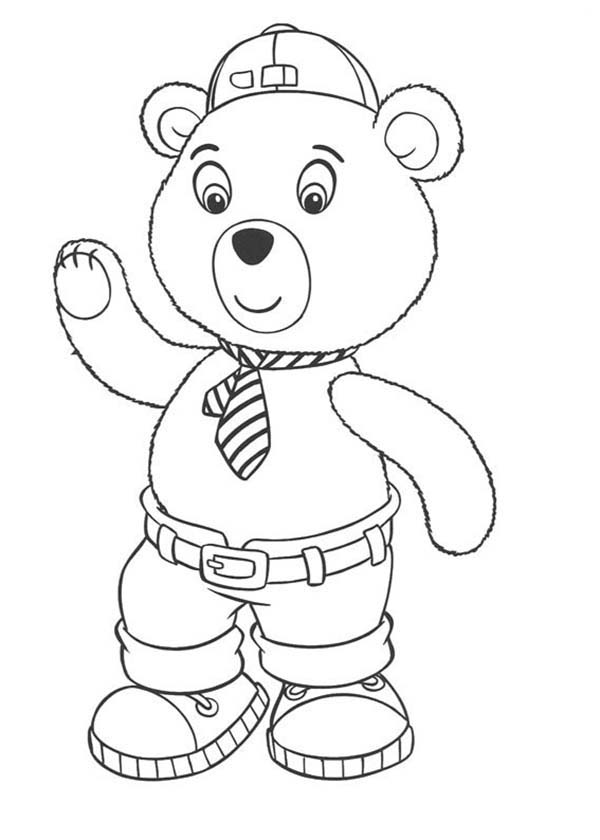 Noddy, : Mr Tubby Bear Wear Lovely Tie in Noddy Coloring Pages