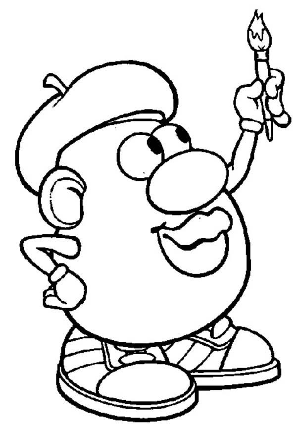 Mr. Potato Head, : Mr. Potato Head Famous Painter Coloring Pages