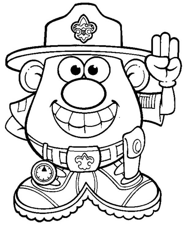 Mr. Potato Head, : Mr. Potato Head Forest Ranger Coloring Pages