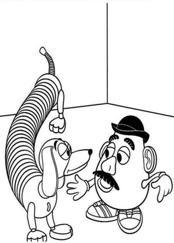Mr. Potato Head, : Mr. Potato Head Slinky Dog Coloring Pages