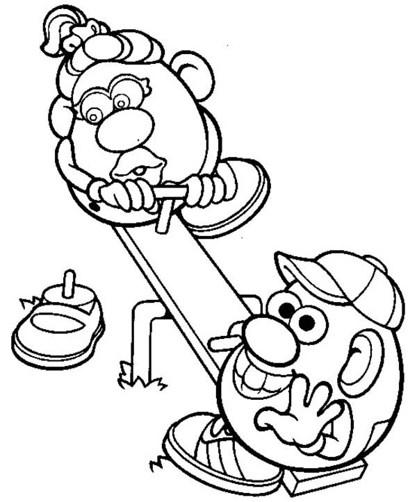 Mr. Potato Head, : Mr. Potato Head and His Wife Coloring Pages