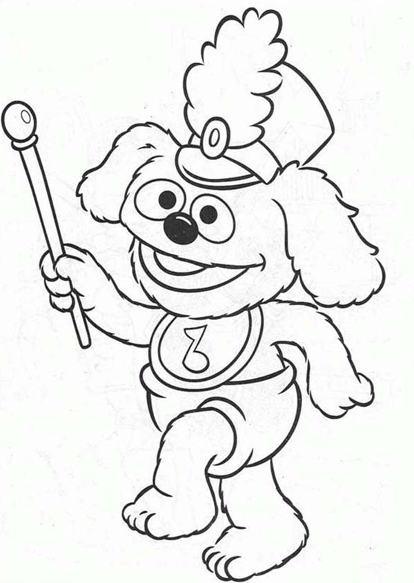 Muppet Babies, : Muppet Babies Leading Baby Parade Coloring Pages