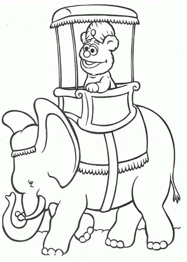 Muppet Babies, : Muppet Babies in Thailand Coloring Pages
