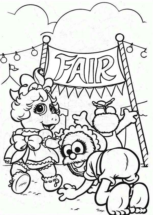 Muppet Babies, : Muppet Babies is Going to Annual Baby Fair Coloring Pages