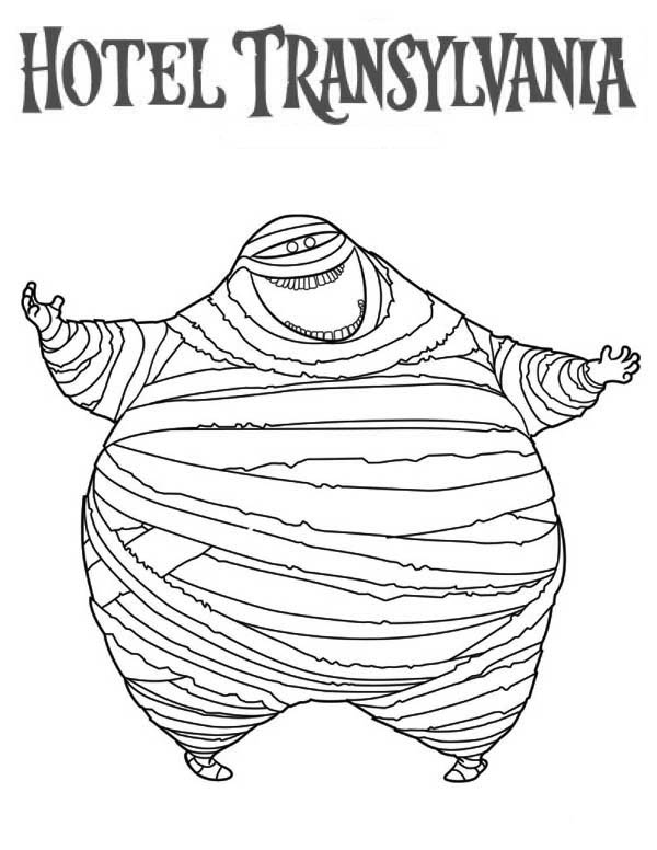 Hotel Transylvania, : Murray the Mummy is in Hotel Transylvania Coloring Pages