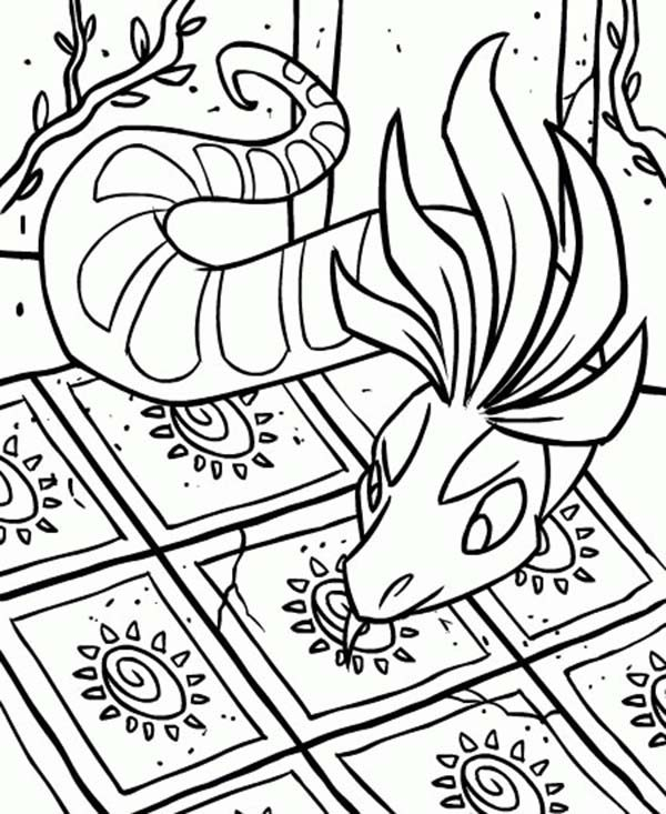Neopets, : Neopets Entering a House Coloring Pages