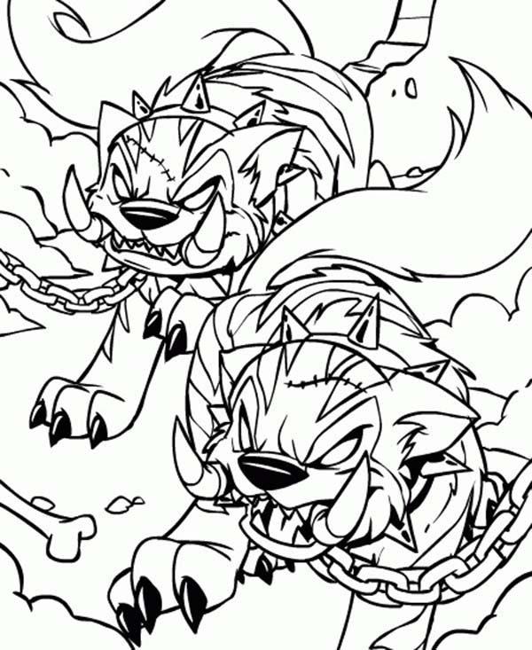 Neopets, : Neopets Hideous Villain Coloring Pages