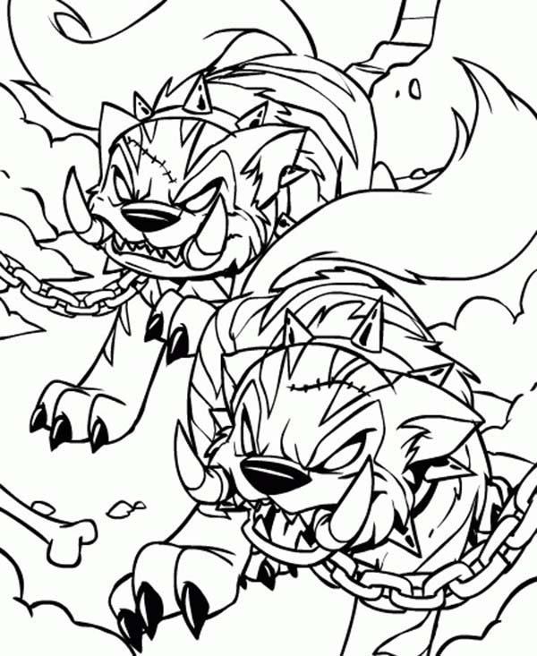 Neopets, : Neopets Hideous Villain Coloring Pages