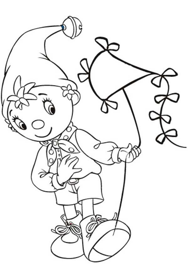 Noddy, : Noddy Awesome Kite Coloring Pages