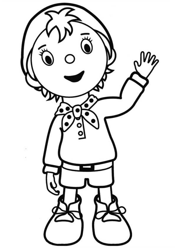 Noddy, : Noddy Coloring Pages for Kids