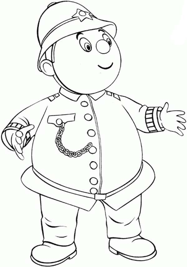 Noddy, : Noddy Friend Mr Plod Coloring Pages