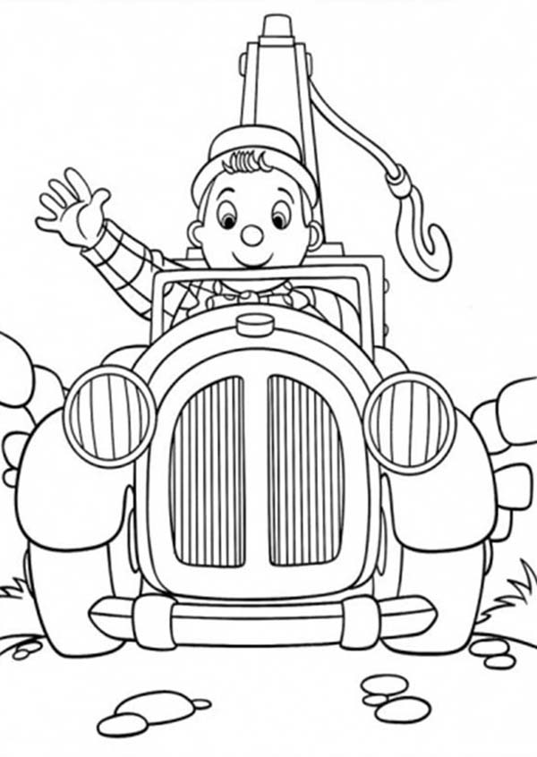 Noddy, : Noddy Greeting Us Coloring Pages