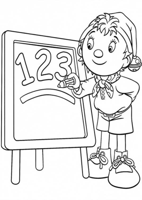 Noddy, : Noddy Learning Math Coloring Pages