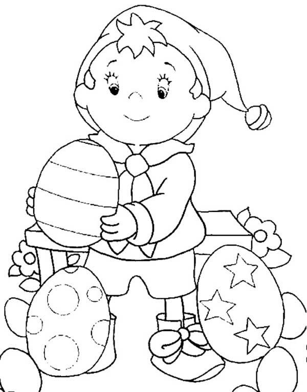 Noddy, : Noddy Make Beautiful Easter Eggs Coloring Pages