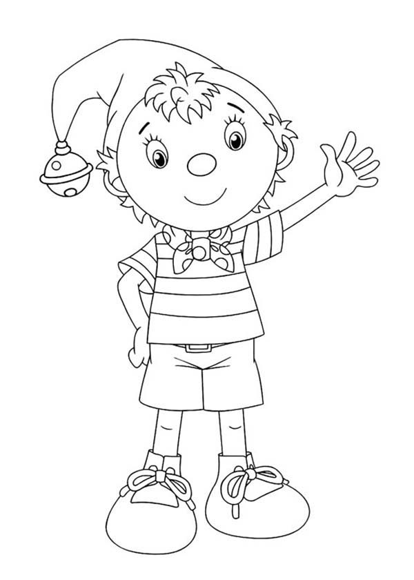 Noddy, : Noddy Wearing Casual Outfit Coloring Pages