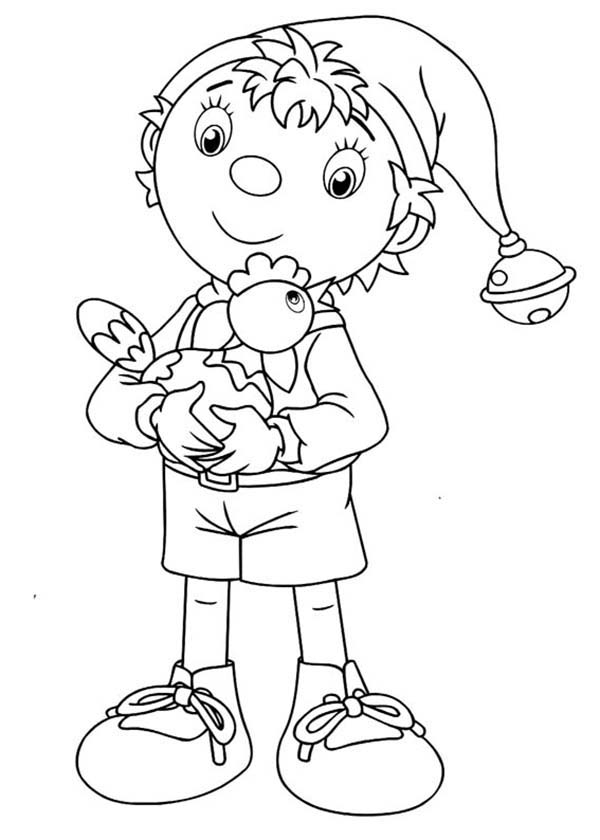 Noddy, : Noddy and His Chicken Coloring Pages