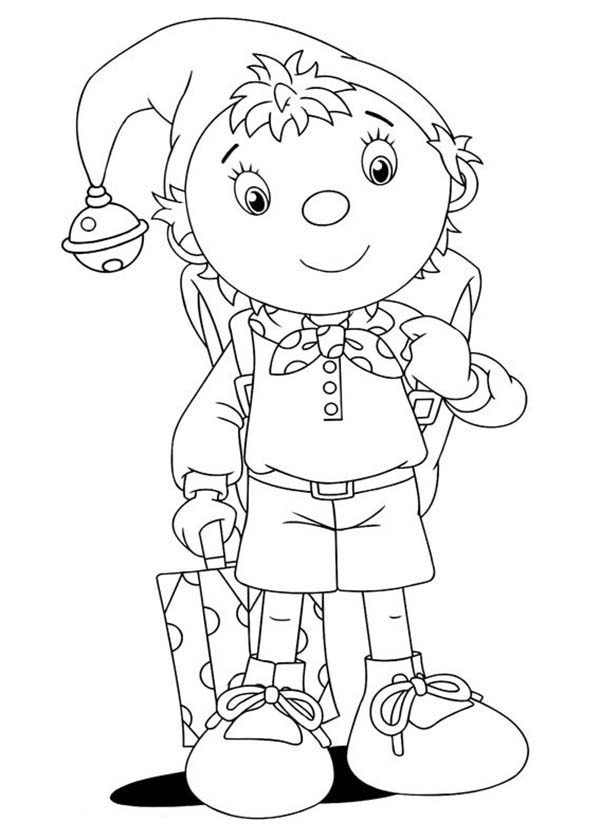 Noddy, : Noddy is Going to Birthday Party Coloring Pages
