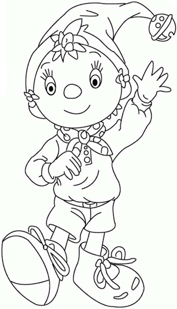 Noddy the Little Wooden Boy Coloring Pages   Bulk Color
