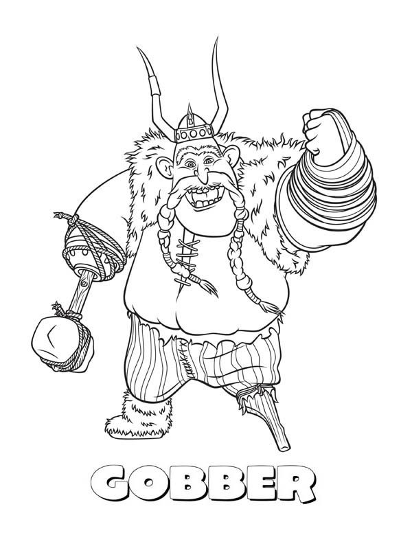 One legged gobber from how to train your dragon coloring pages how to train your dragon one legged gobber from how to train your dragon ccuart Images
