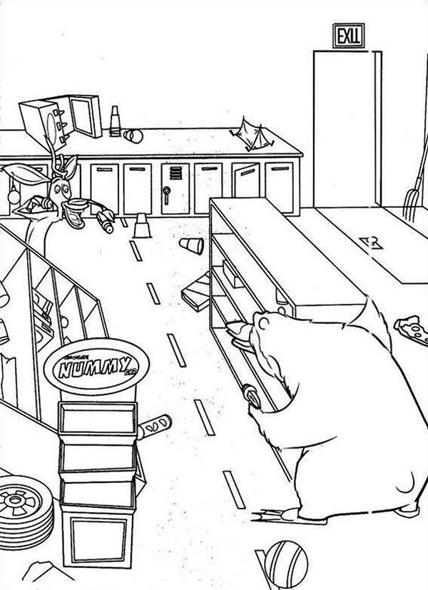 Oliver and Company, : Open Season Messy Kitchen in Open Season Coloring Pages