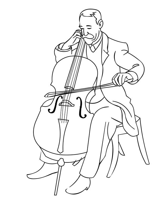 Musical Instruments, : Orchestra Musical Instruments Symphony Coloring Pages 2