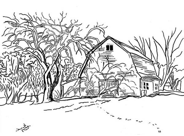 Landscapes, : Out of Town Landscapes Coloring Pages