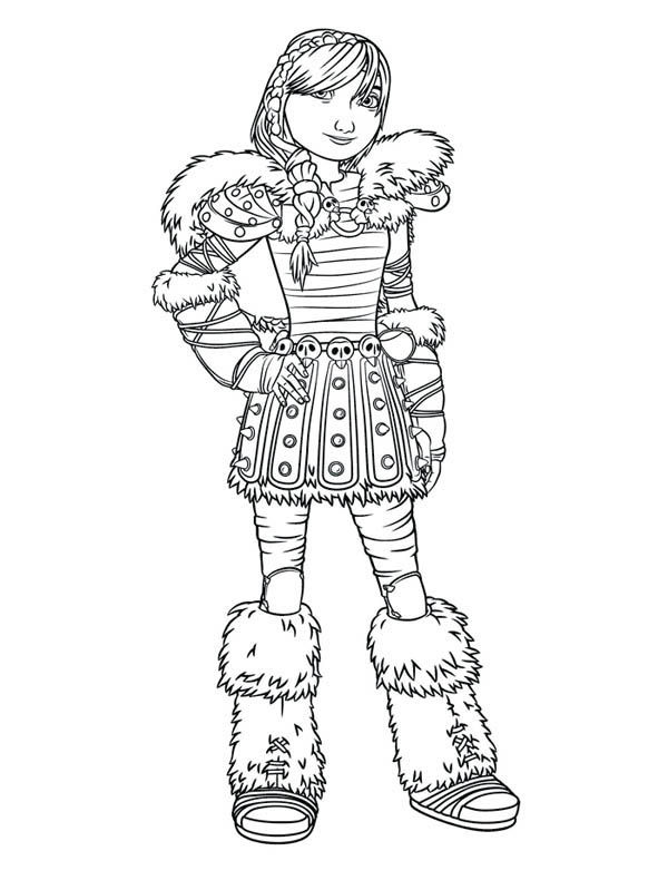 How to Train Your Dragon, : Picture of Astrid How to Train Your Dragon Coloring Pages