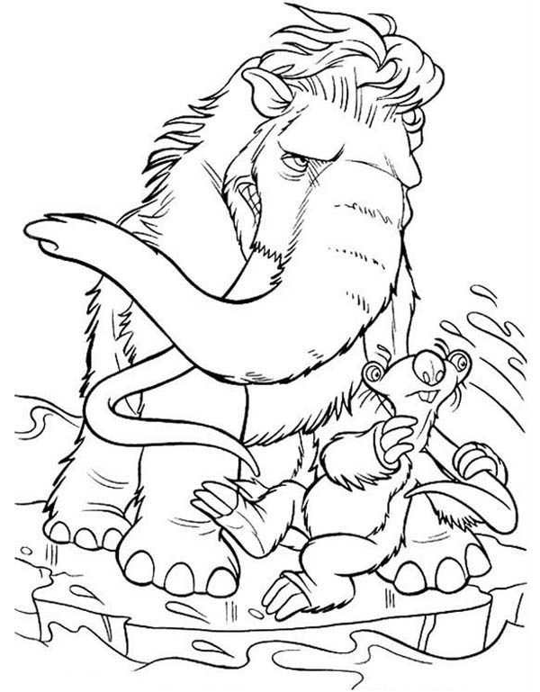 Picture of Ice Age Coloring Pages | Bulk Color