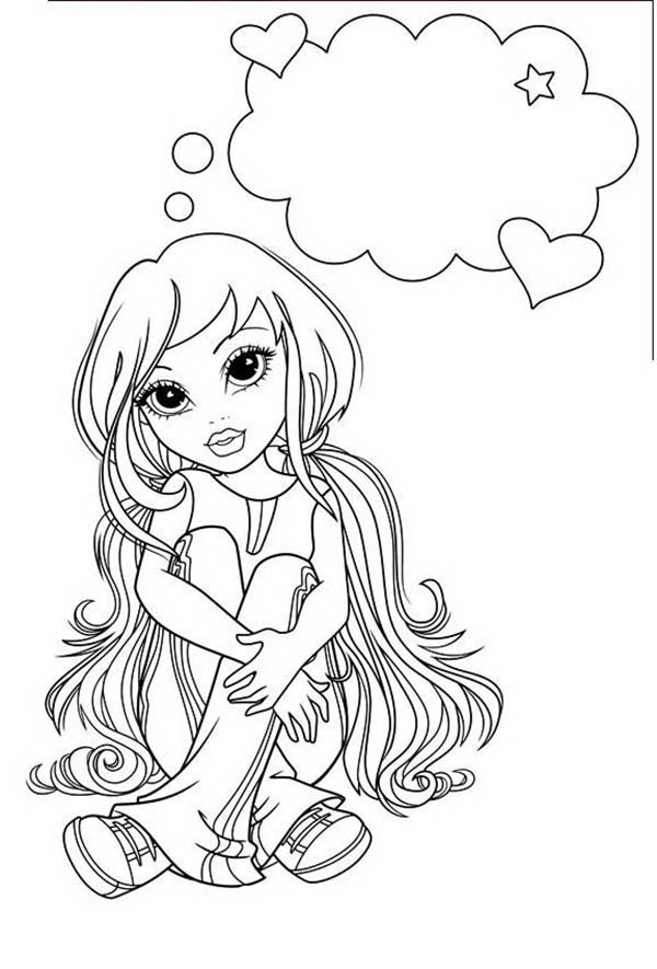 Moxie Girlz, : Picture of Lexa in Moxie Girlz Coloring Pages