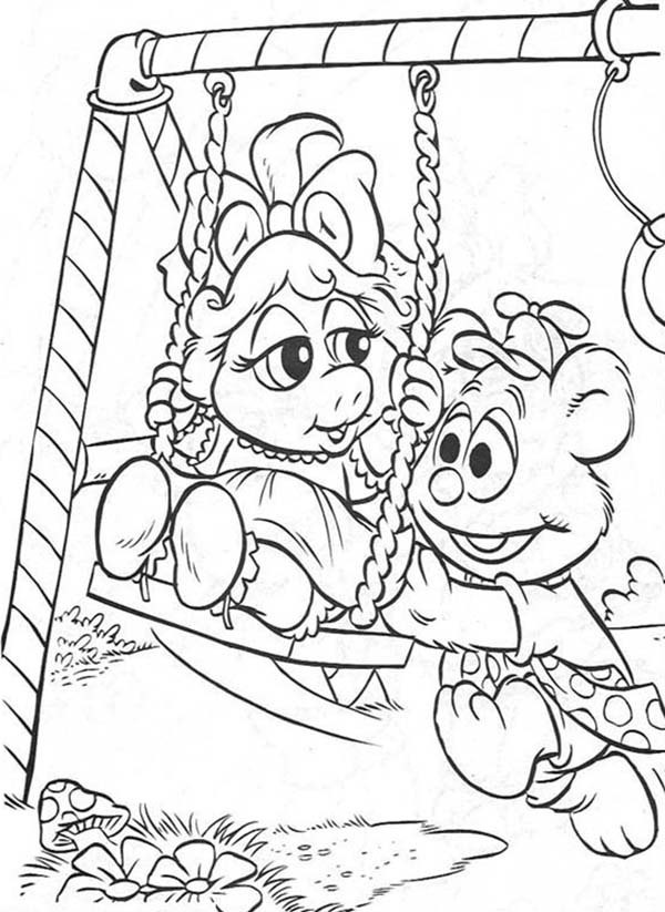 Muppet Babies, : Picture of Muppet Babies Coloring Pages