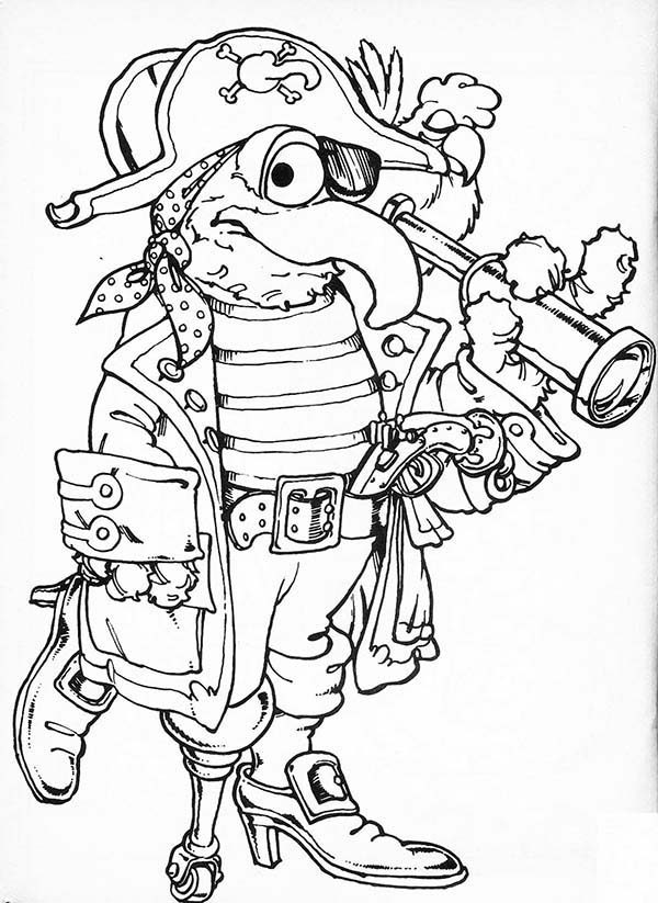 The Muppets, : Pirate Tale in The Muppets Show Coloring Pages