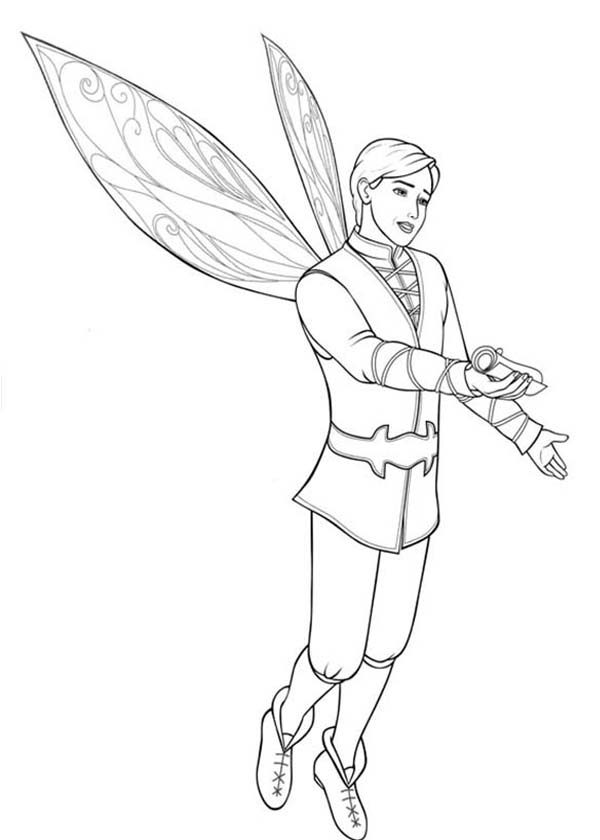 Barbie Mariposa, : Prince Carlos Ask Barbie Mariposa to Dance Coloring Pages