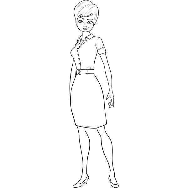 Roxanne Ritchie From Megamind Film Coloring Pages