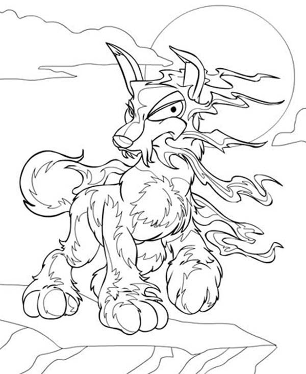 Neopets, : Scary Neopets Coloring Pages
