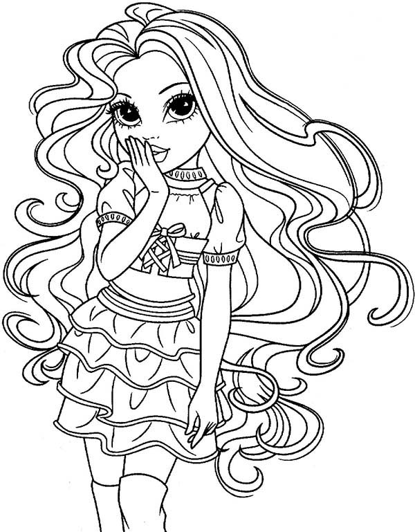 Moxie Girlz, : Sophina Feeling Shy in Moxie Girlz Coloring Pages