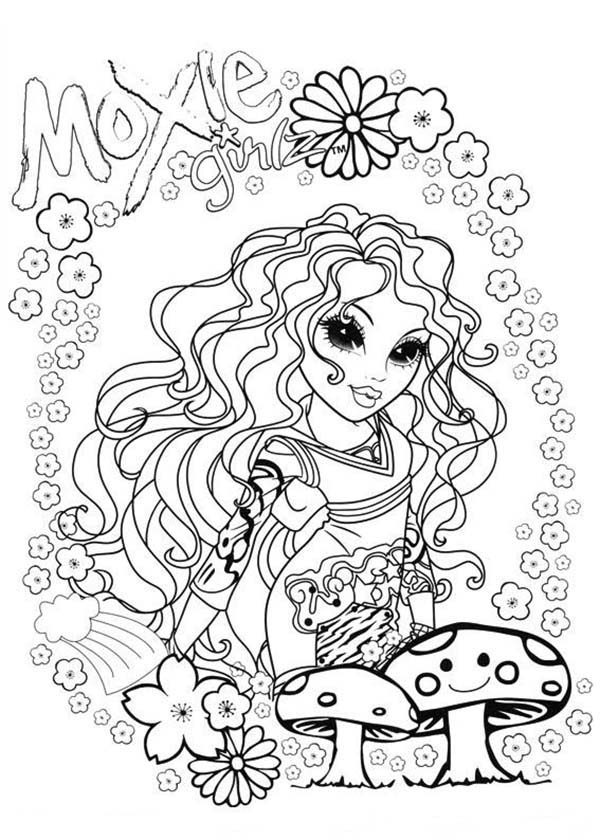 Moxie Girlz, : Sophina and Mushroom in Moxie Girlz Coloring Pages