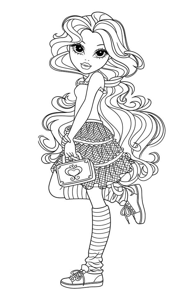 Moxie Girlz, : Sophina from Moxie Girlz Coloring Pages