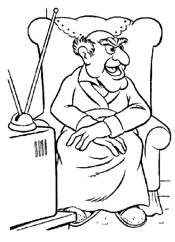 The Muppets, : Statler from The Muppets Show Coloring Pages