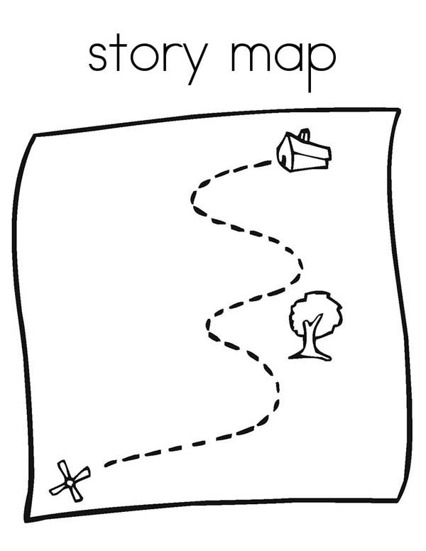 Maps, : Story Maps Coloring Pages