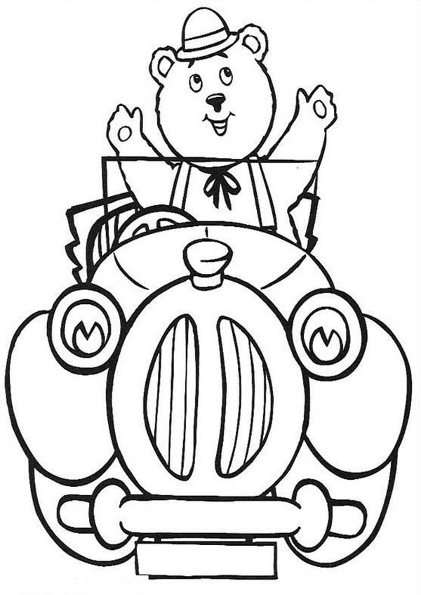 Noddy, : Teddy Tubby Bear Pick Noddy Coloring Pages