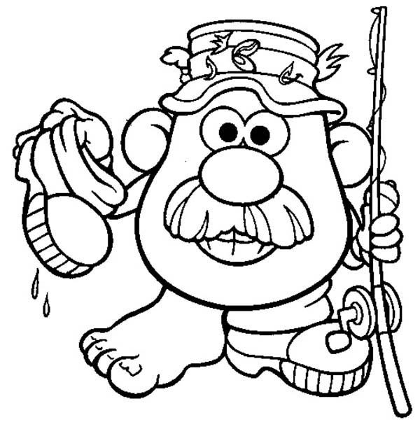 Mr. Potato Head, : The Adventure of Mr. Potato Head Coloring Pages