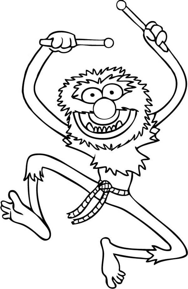 The Muppets, : The Famous Animal The Muppets Coloring Pages