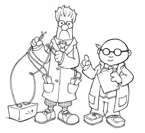 The Muppets, : The Muppets Dr Bunson Honeydwe and Beaker Make Some Experiments Coloring Pages